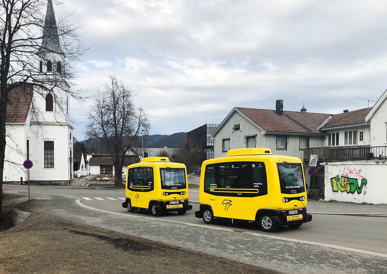 gule autonome busser