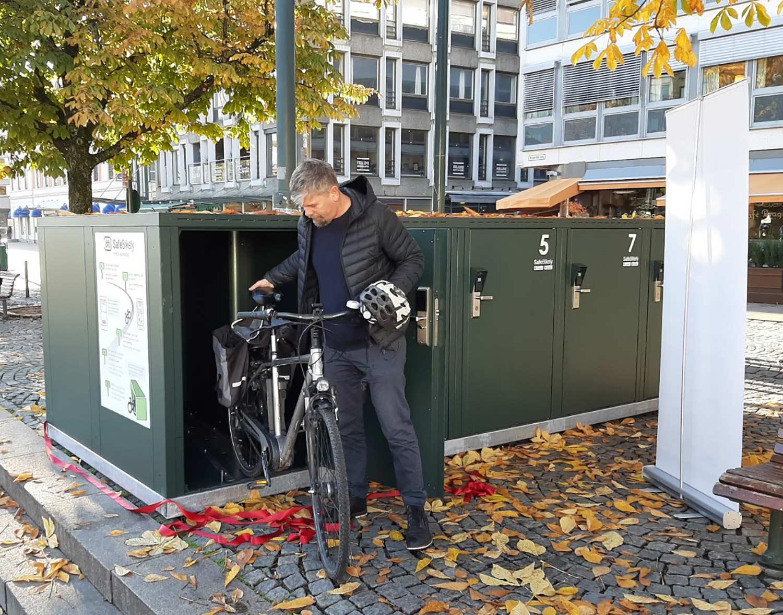 Sykkelhotell lier åpnes av Varaordfører